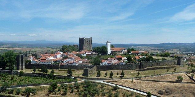 Blick auf das Castelo von Bragança, Trás-os-Montes