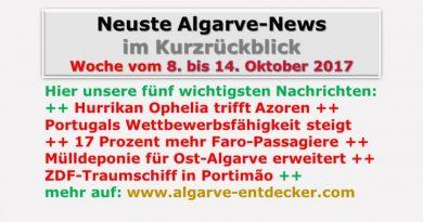 Algarve-News für die KW 41 vom 8. bis 14. Oktober 2017