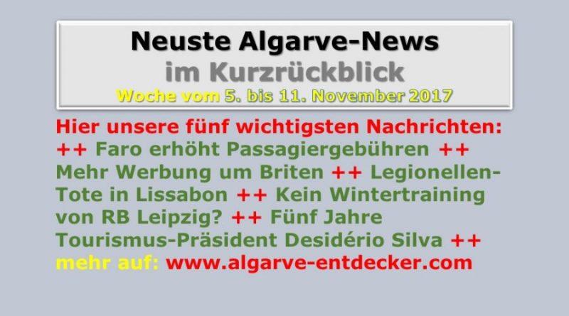 Algarve-News für die KW 45 vom 5. bis 11. November 2017