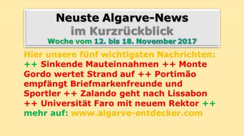 Algarve-News der KW 46 vom 12. bis 18. November 2017