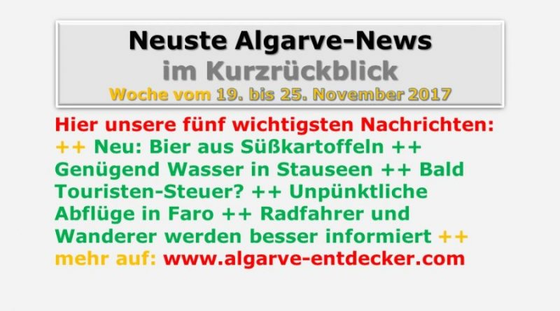 Algarve-News der KW 47 vom 19. bis 15. November 2017