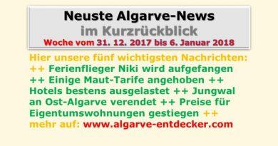 Algarve-News für KW 01 vom 31.12.2017 bis 6.1.2018
