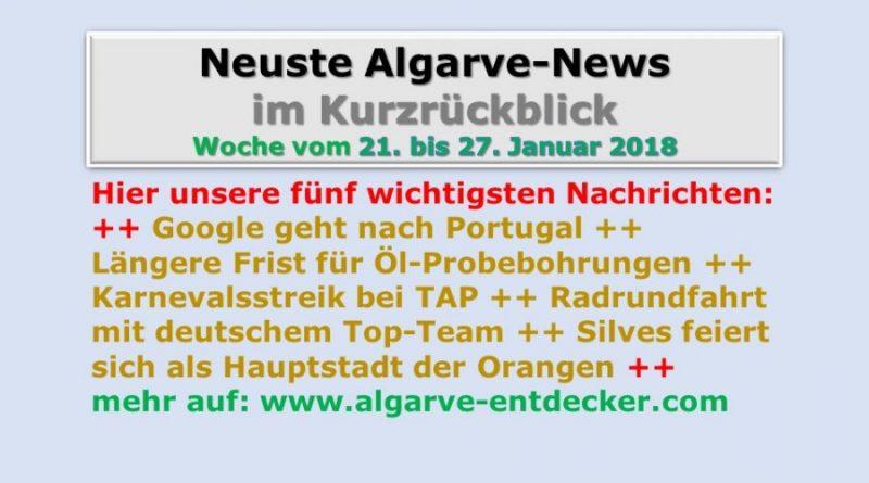 Algarve-News für die KW 4 vom 21. bis 27. Januar 2018