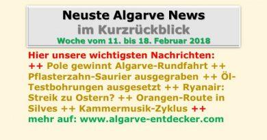 Algarve News für KW 7 vom 11. bis 18. Februar 2018