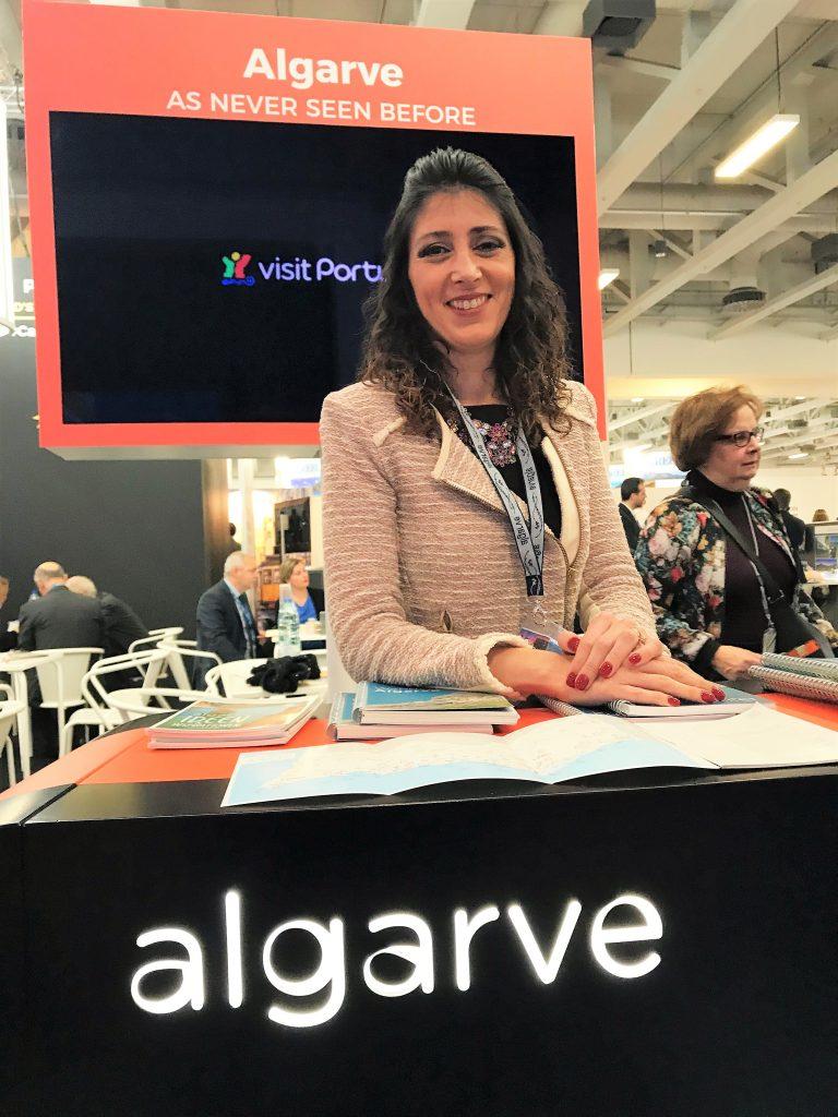 Promotion für die Algarve auf der ITB 2018 durch Dora Coelho von der ATA