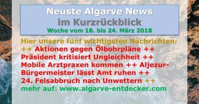 Algarve News KW 12 vom 18. bis 24. März 2018