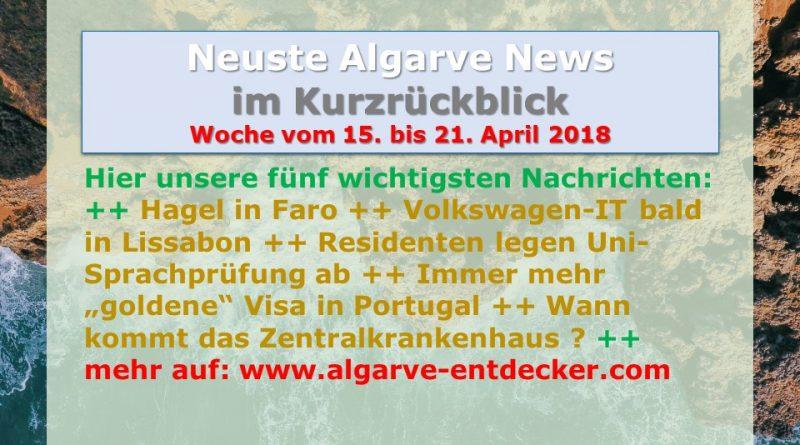 Algarve News für KW 16 vom 15. bis 21. April 2018
