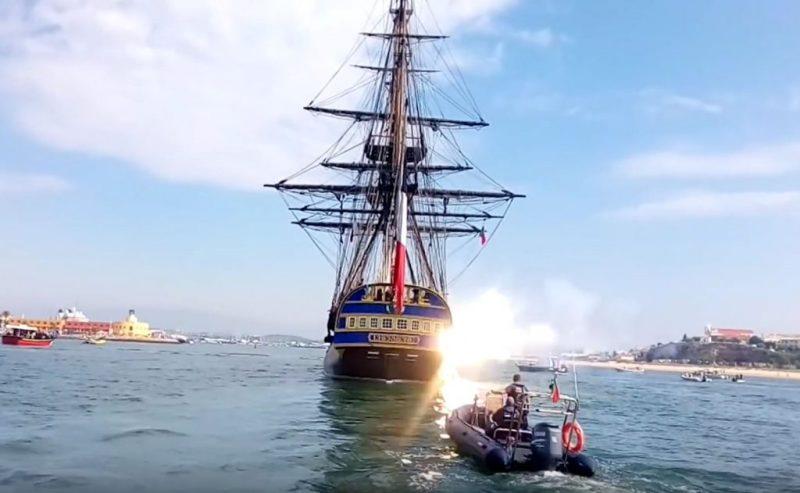 Algarve News zu Besuch der Fregatte Hermione an der Algarve in Portimao