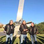 Algarve-Polizei beim Motorradfahrer-Treffen von Faro mit eigenem Denkmal