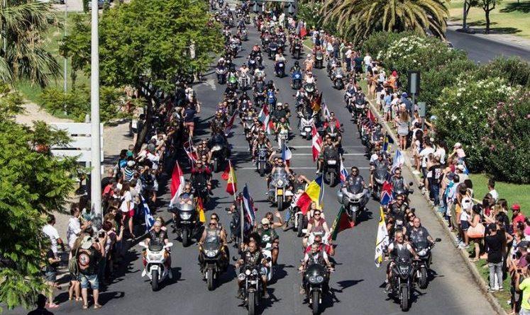 Algarve-Polizei sichert das 37. internationale Motorradfahrer-Treffen in Faro