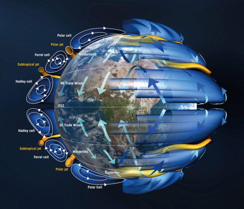 Wind-Muster untersucht der ESA-Satellit Aeolus