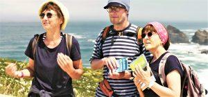 Algarve-Video zeigt Wanderer auf der Rota Vicentina mit himmlischen Assoziationen