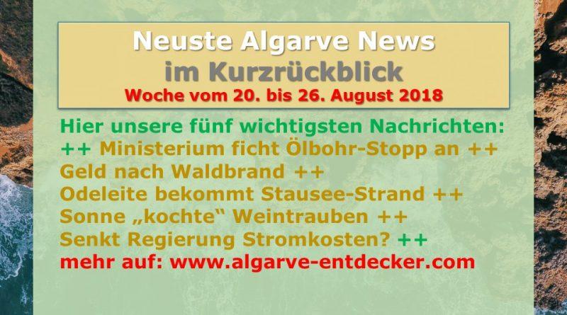 Algarve News aus KW 34 vom 20. bis 26. August 2018