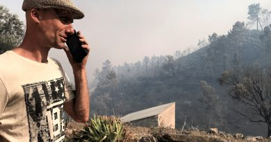 In Monchique verlor der Deutsche Robert Nestmann beim Waldbrand seine Haus