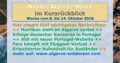Algarve News aus KW 41 vom 8. bis 14. Oktober 2018