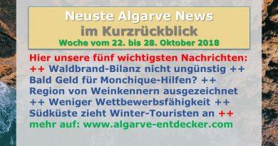 Algarve News aus KW 43 vom 23. bis 28. Oktober 2018