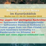 Algarve News aus KW 51 vom 17. bis 23.12.2018