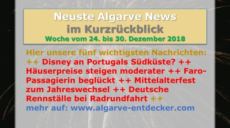 Algarve News aus KW 52 vom 24. bis 30. Dezember 2018 D