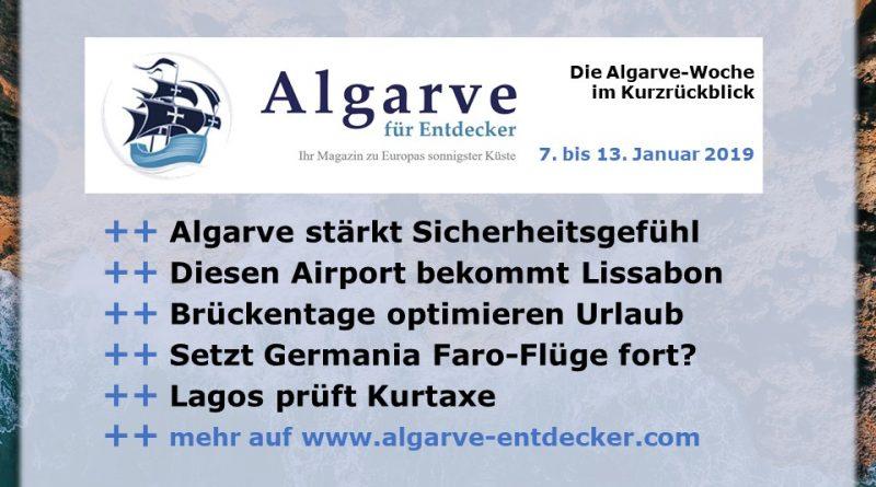 Algarve News aus KW 2 vom 7. bis 13. Januar 2019