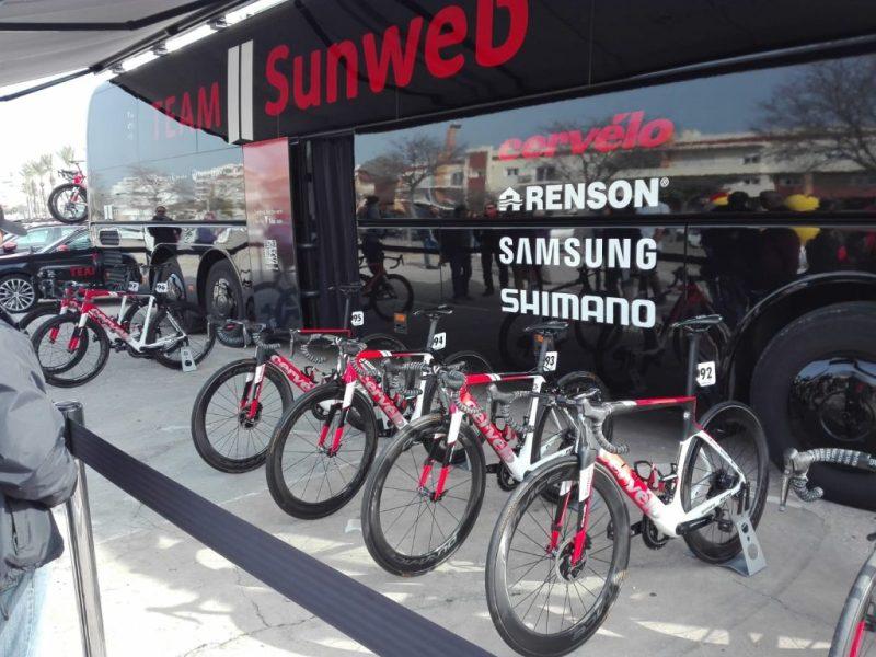 Algarve-Rundfahrt Volta ao Algarve mit deutschem Team Sunweb in Portimao am Start 2019