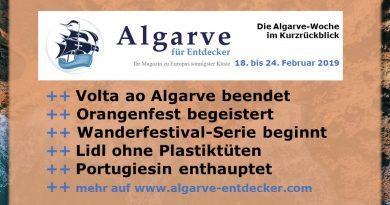 Algarve News und Portugal News aus KW 8 vom 18. bis 24. Februar 2019