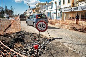 Algarve News zu Straßenbauarbeiten an der Verkehrsader von Olhao, der N 125