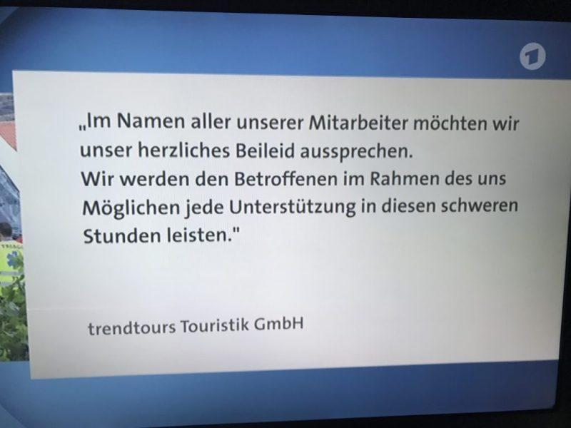 Maas besuchte die Angehörigen der Opfer des Busunglücks, die den Ausflug bei Trendtours Touristik gebucht hatten