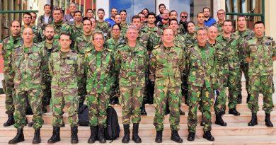 Cyber-Abwehr in Tarnanzügen portugiesischer Teilnehmer der NATO-Übung Locked Shields