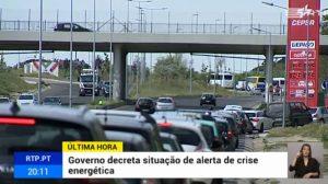 Kraftstoff-Mangel durch Tankwagenfahrer-Streik führt zu langen Schlangen vor Portugals Tankstellen
