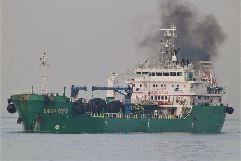 Sines erlebte im Container-Hafen Unfall bei Betankung mit Bahia Tres