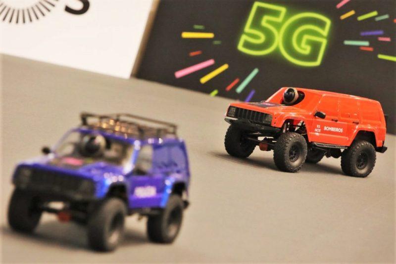 5G sendet schnelle reale Kamerabilder von Automodellen