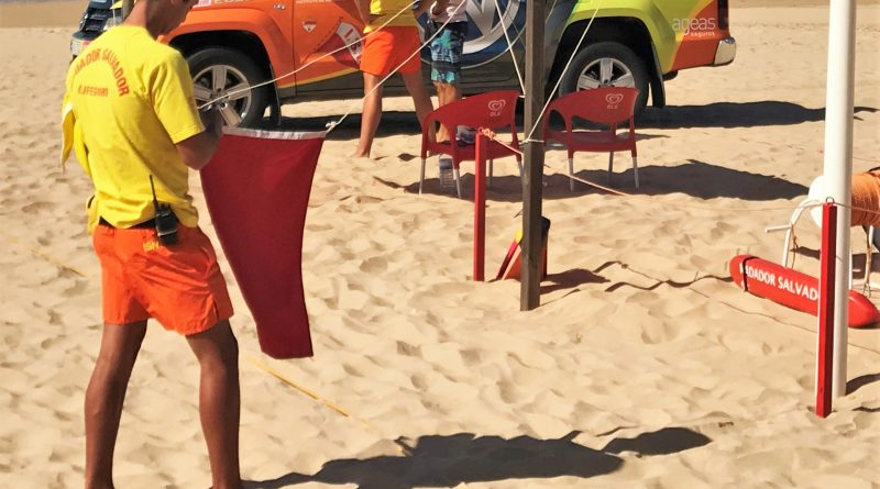 Algenplage führt zu Badeverboten mit roter Flagge an Algarve-Stränden