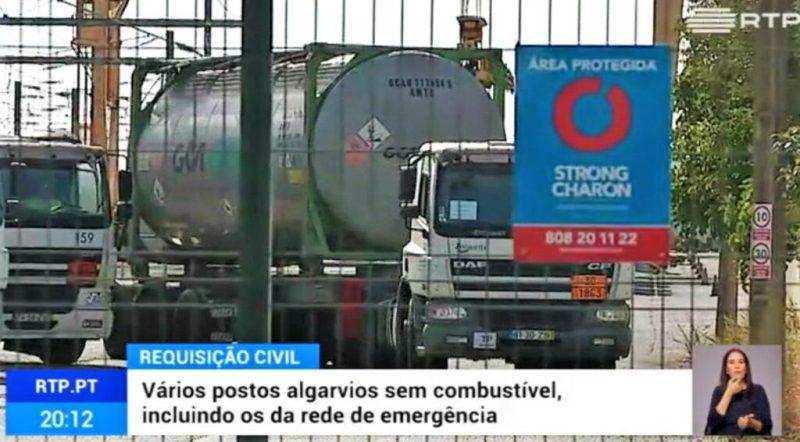 Beschlagnahmte Tankwagen sollen die Treibstoffversorgung auch der Flughäfen in Portugal sichern