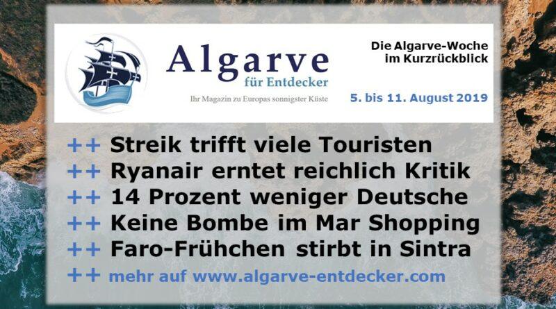 Algarve News und Portugal News aus KW 32 vom 5. bis 11. August 2019