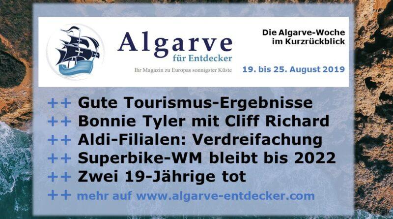 Algarve News und Portugal News aus KW 34 vom 19. bis 25. August 2019