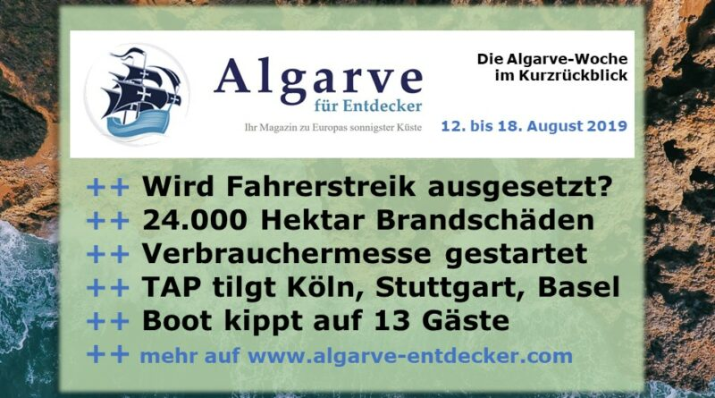 Algarve News 12 Bis 18 August 2019 Algarve Für Entdecker