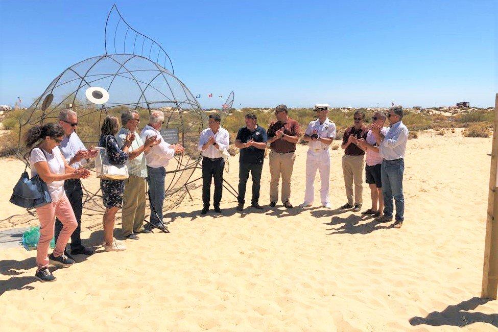 Algarve News über Fisch-Skulptur aus Metall in Tavira