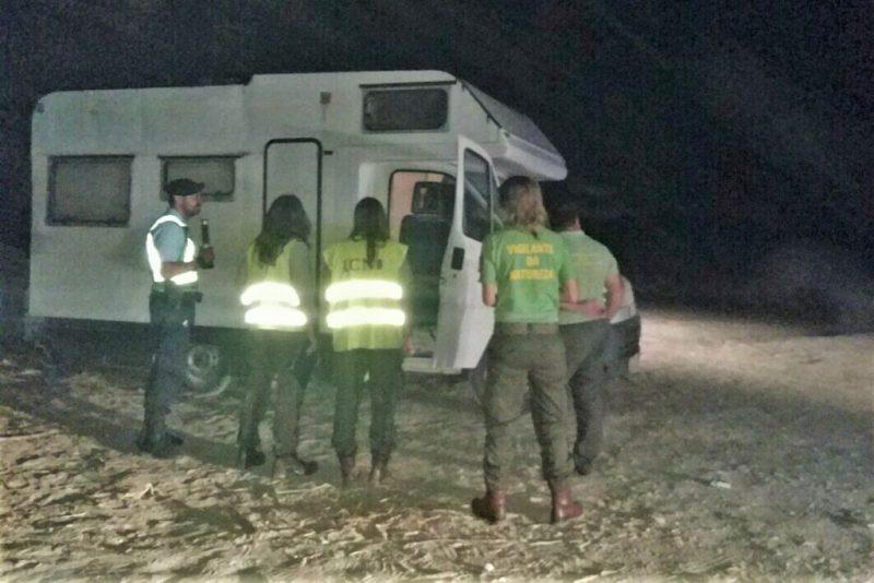 Algarve-Camping durch Naturschutz-Institut ICNF und Polizei GNR scharf kontrolliert