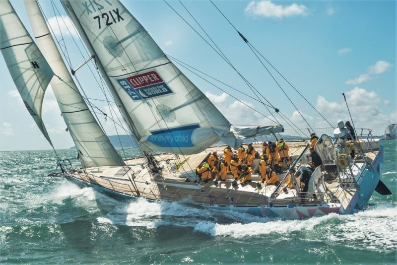 Algarve-September 2019 mit Clipper Round the World Yacht Race in Portimão