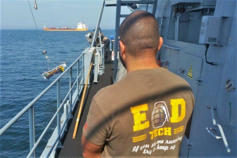 Minen vor der Insel Fehmarn durch portugiesische Marinetaucher unschädlich gemacht