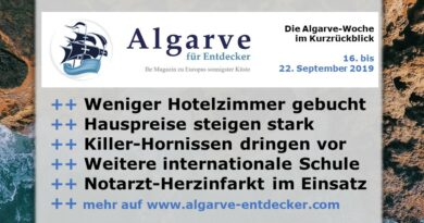 Algarve News und Portugal News aus KW 38 vom 16. bis 22. September 2019