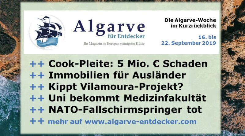 Algarve News und Portugal News aus KW 39 vom 23. bis 29. September 2019