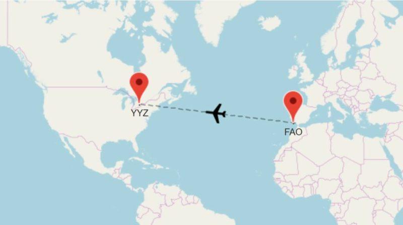 Flugverbindungen zwischen Algarve und Ontario in Kanada mit Air Transat