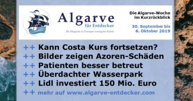 Algarve News und Portugal News aus KW 40 vom 30. September bis 6. Oktober 2019
