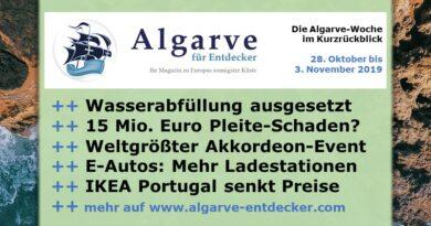 Algarve News und Portugal News aus KW 44 vom 28. Oktober bis 3. November 2019