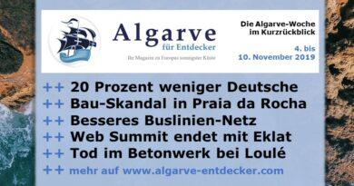 Algarve News und Portugal News aus KW 45 vom 4. bis 10. November 2019