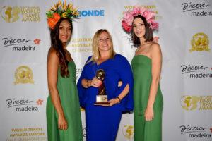 Silvia Biscaia, Geschäftsführerin im Dunas Douradas Beach Club bei den World Travel Awards 2019