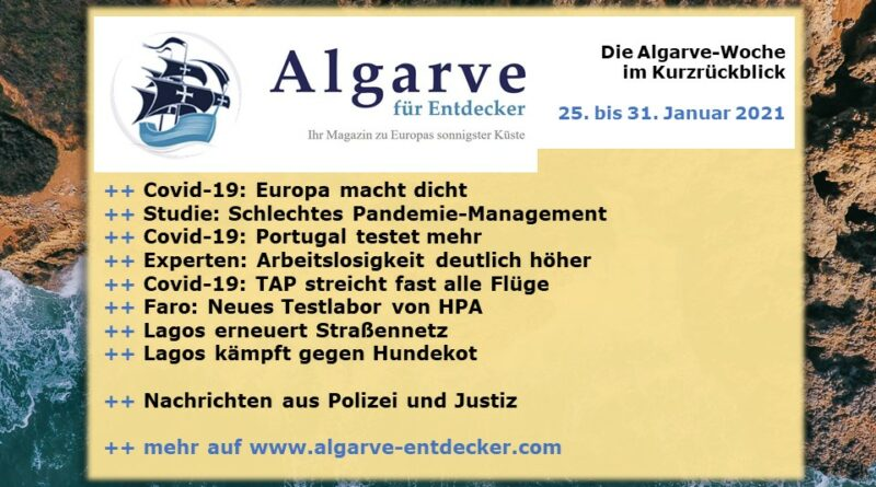Algarve News: 25. bis 31. Januar 2021